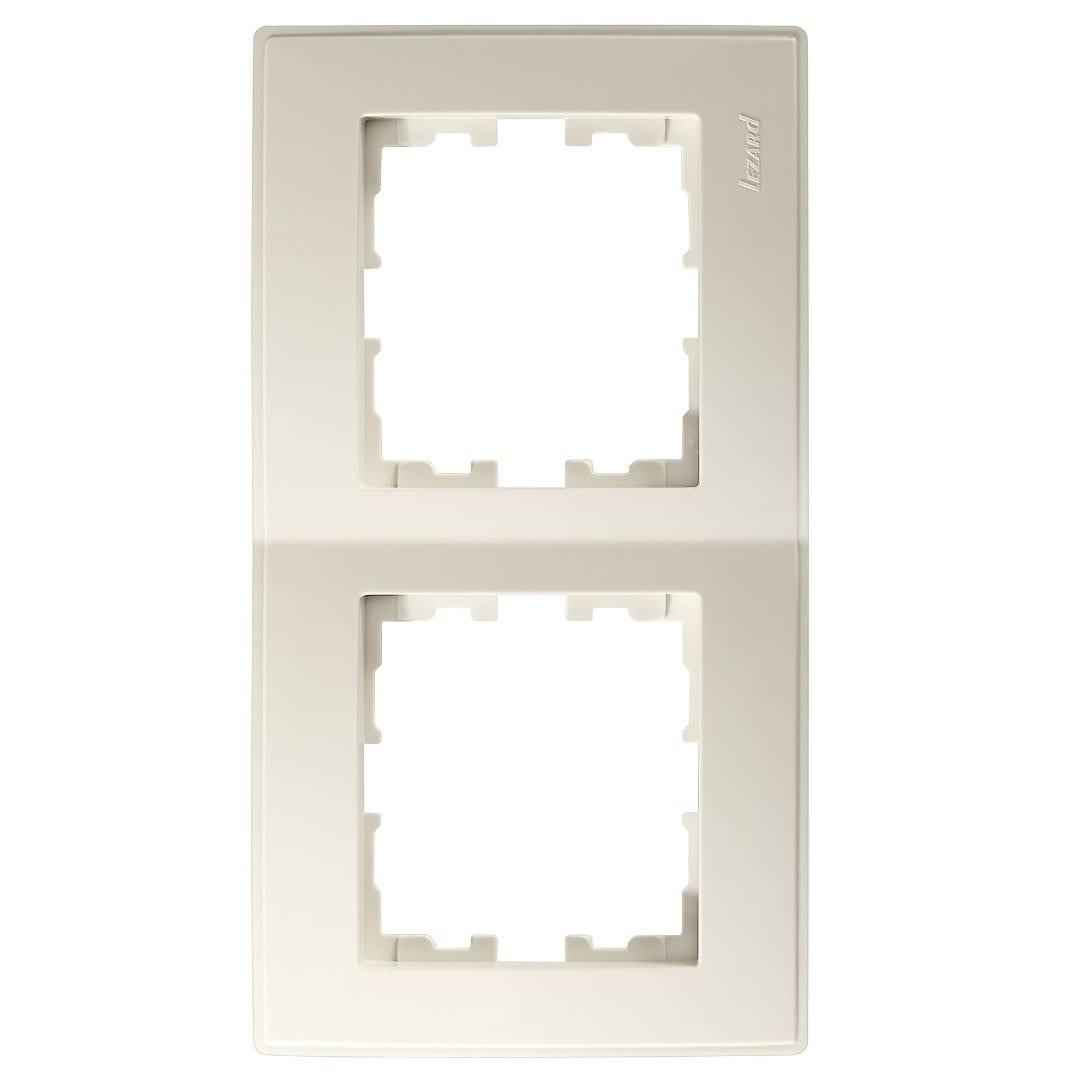 Розетки і вимикачі - Рамка двойная вертикальная Lezard серия Lesya 000001609 - Фото 1