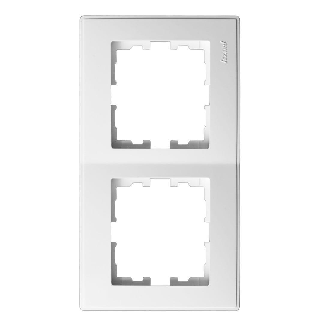 Розетки і вимикачі - Рамка двойная вертикальная Lezard серия Lesya 000001595 - Фото 1