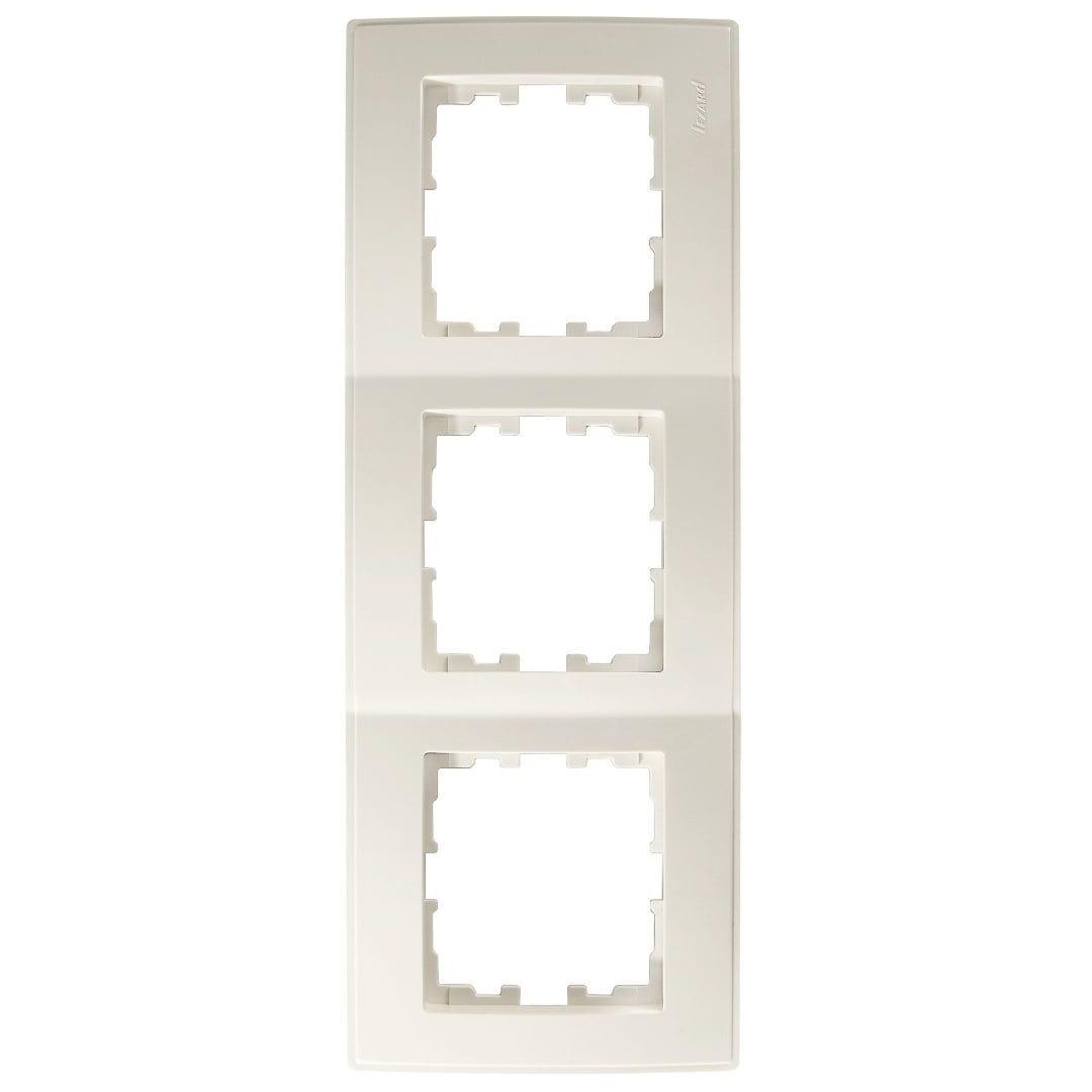 Розетки і вимикачі - Рамка тройная вертикальная Lezard серия Lesya 000001611 - Фото 1
