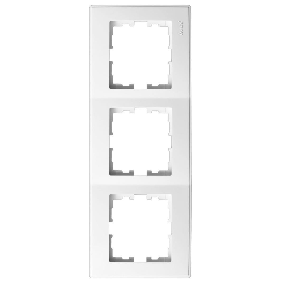 Розетки і вимикачі - Рамка тройная вертикальная Lezard серия Lesya 000001596 - Фото 1
