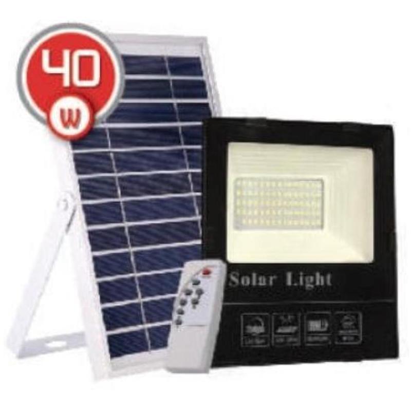 на столбы - LED прожектор на солнечной батарее VARGO 40W 6500К  000000564 - Фото 1