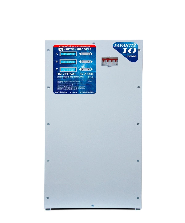 Стабилизаторы напряжения - Стабилизатор напряжения 5 кВт х 3 UNIVERSAL 000001554 - Фото 2