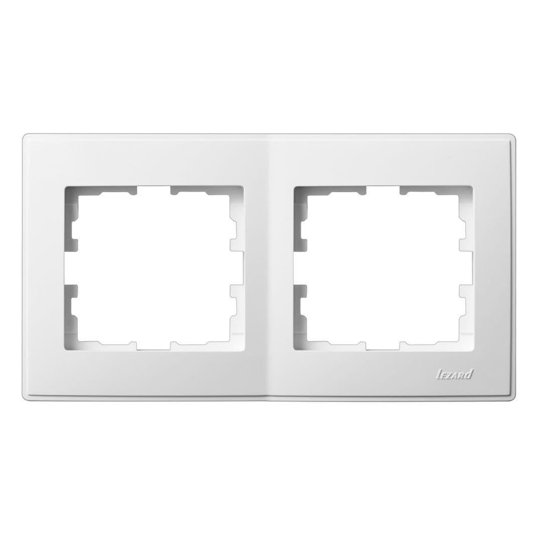 Розетки і вимикачі - Рамка двойная горизонтальная Lezard серия Lesya 000001591 - Фото 1