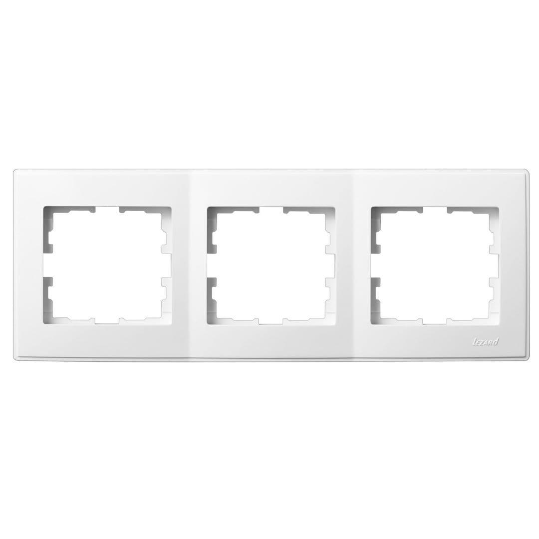 Розетки і вимикачі - Рамка тройная горизонтальная Lezard серия Lesya 000001592 - Фото 1