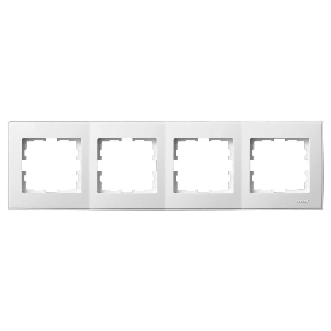 Розетки і вимикачі - Рамка четверная горизонтальная Lezard серия Lesya 000001593 - Фото 1