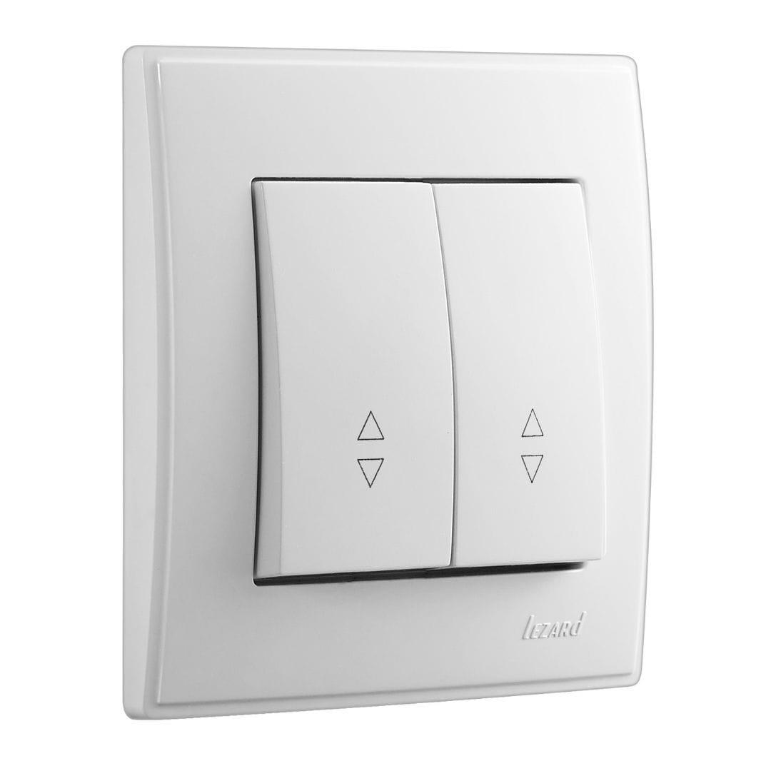 Розетки і вимикачі - Выключатель проходной двойной Lezard серия Lesya 000001576 - Фото 1