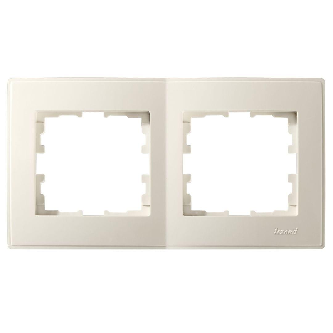 Розетки і вимикачі - Рамка двойная горизонтальная Lezard серия Lesya 000001610 - Фото 1