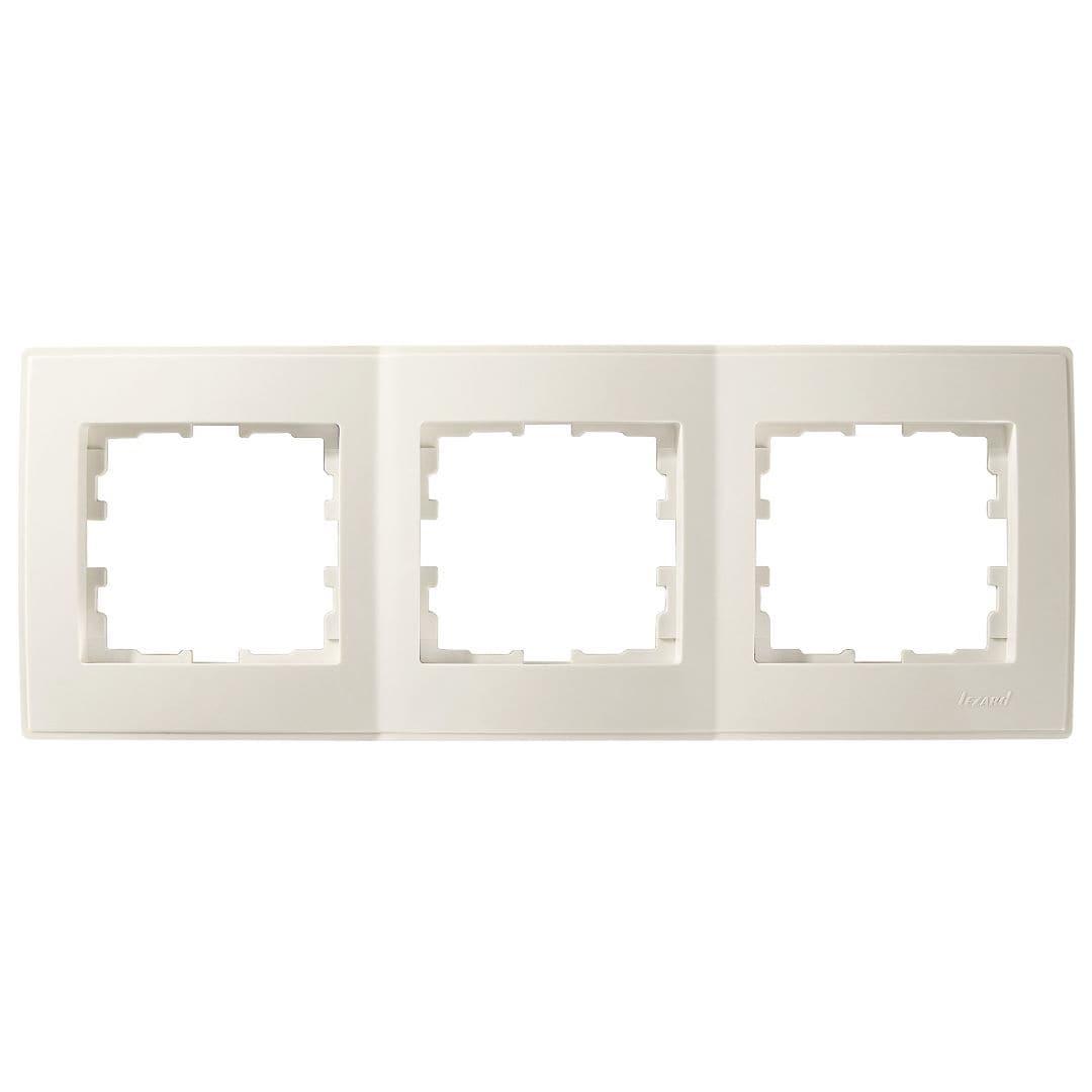 Розетки і вимикачі - Рамка тройная горизонтальная Lezard серия Lesya 000001612 - Фото 1