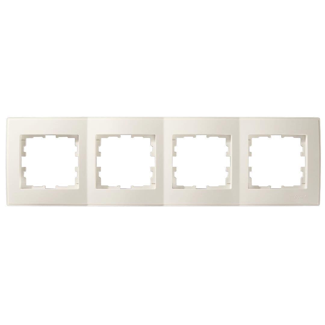Розетки і вимикачі - Рамка четверная горизонтальная Lezard серия Lesya 000001613 - Фото 1