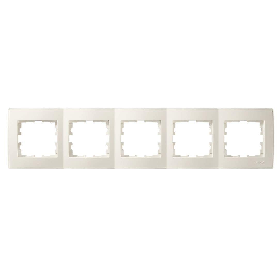 Розетки і вимикачі - Рамка пятерная горизонтальная Lezard серия Lesya 000001614 - Фото 1
