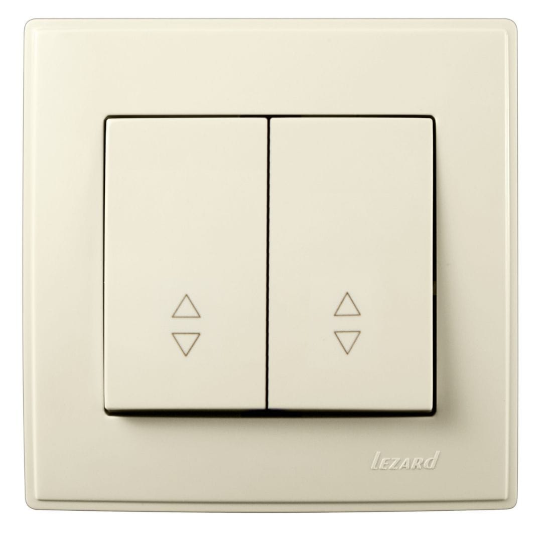 Розетки і вимикачі - Выключатель проходной двойной Lezard серия Lesya 000001604 - Фото 1
