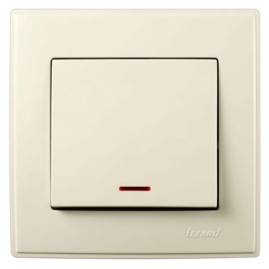 Розетки і вимикачі - Выключатель с подсветкой Lezard серия Lesya 000001606 - Фото 1