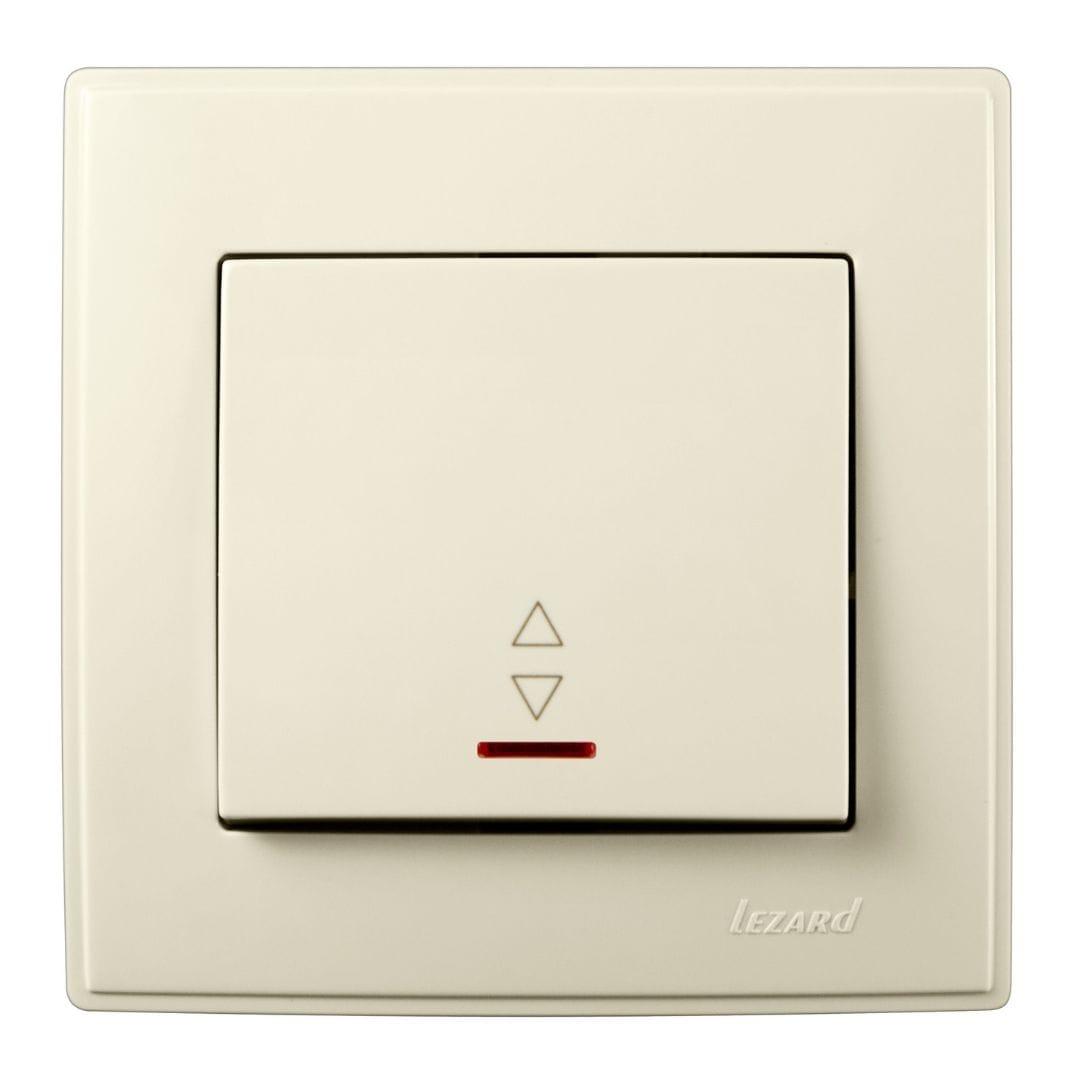 Розетки і вимикачі - Выключатель проходной с подсветкой Lezard серия Lesya 000001605 - Фото 1