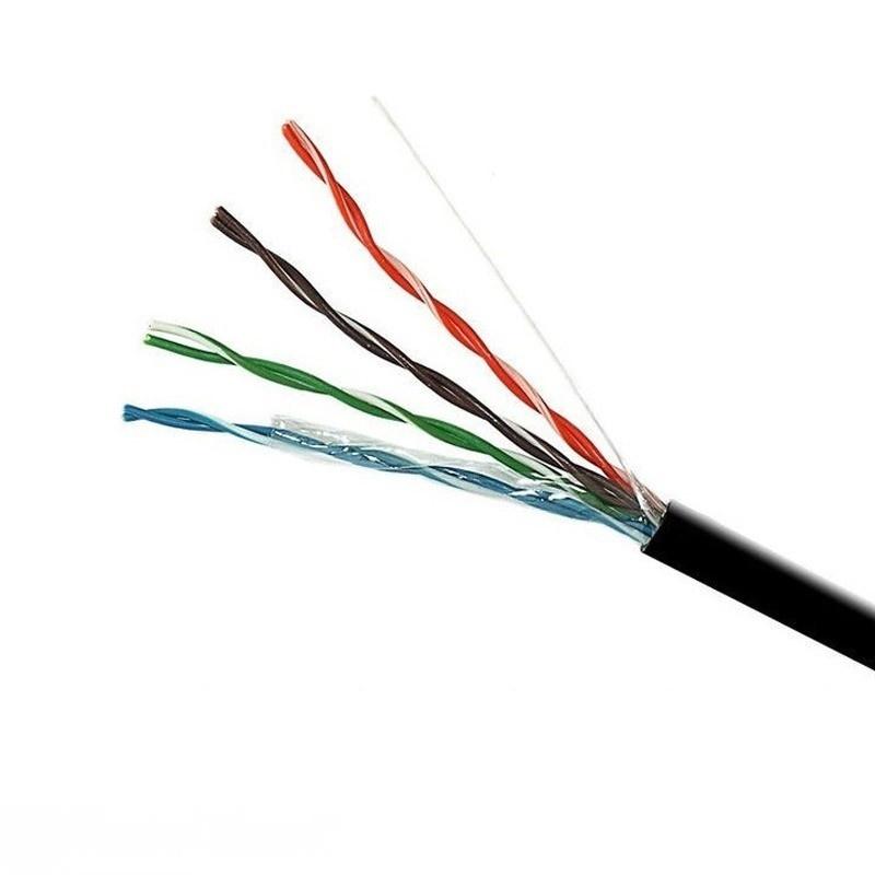 Витая пара - Интернет кабель UTP черный (наружный монтаж) 000001406 - Фото 1