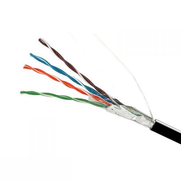 Витая пара - Интернет кабель FTP черный (наружный монтаж) 000001407 - Фото 1