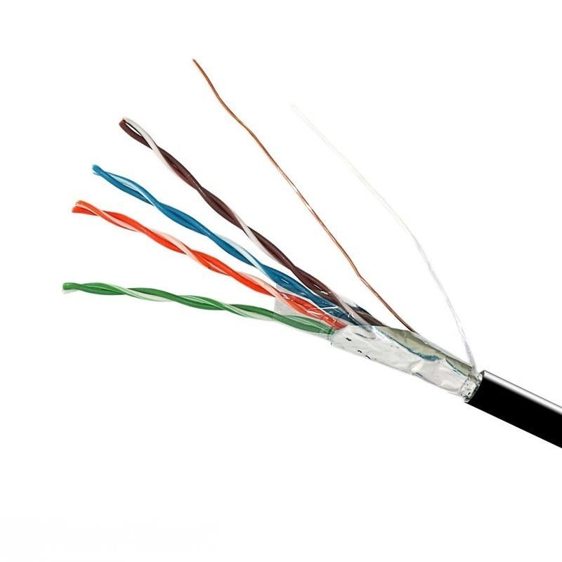 Витая пара - Интернет кабель FTP черный(наружный монтаж, со стальной проволокой) 000001409 - Фото 1