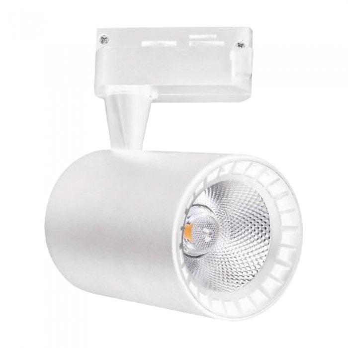 Лед трековое освещение - Светильник трековый COB LED 10W 4200K белый LYON-10 000001435 - Фото 1