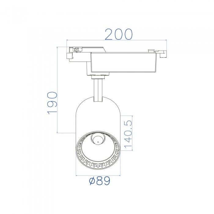 Лед трековое освещение - Светильник трековый COB LED 24W 4200K белый LYON 000001439 - Фото 2