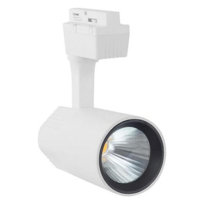 Лед трековое освещение - Светильник трековый COB LED 30W 4200K белый VARNA 000001451 - Фото 1