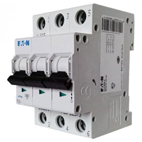 Автоматические выключатели - Авт. выключатель EATON (PL6-C4/3) 4А 3Р тип C 000001778 - Фото 1