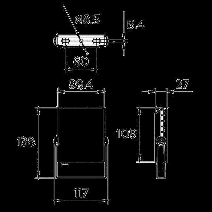 Светодиодное освещение - Прожектор Стандарт Philips 10W 6500 К 000001974 - Фото 2