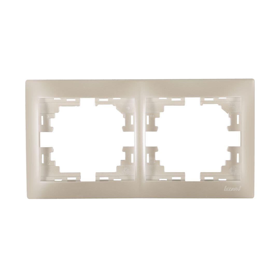 Розетки і вимикачі - Рамка двойная горизонтальная Lezard серия Mira 000002069 - Фото 1