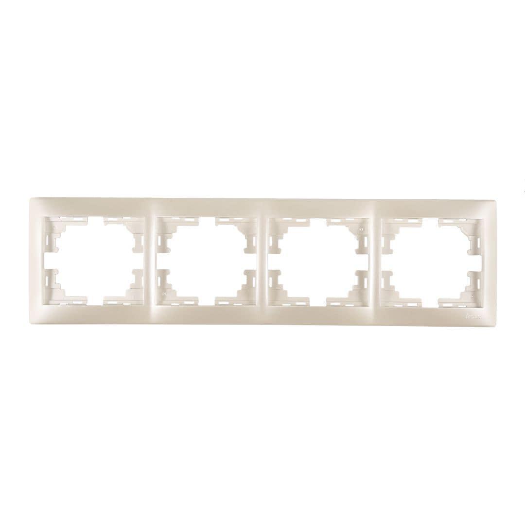 Розетки і вимикачі - Рамка четверная горизонтальная Lezard серия Mira 000002073 - Фото 1