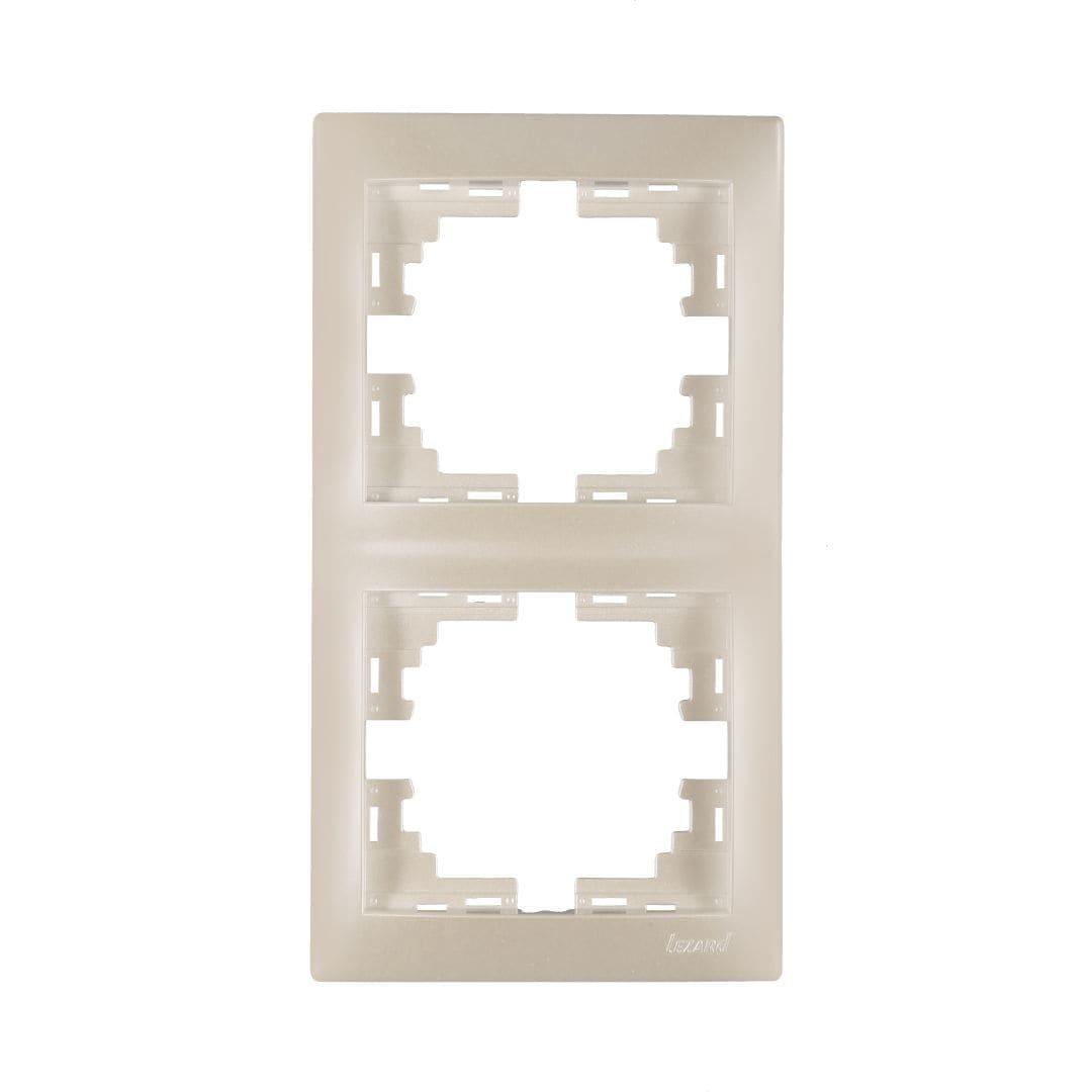 Розетки і вимикачі - Рамка двойная вертикальная Lezard серия Mira 000002068 - Фото 1