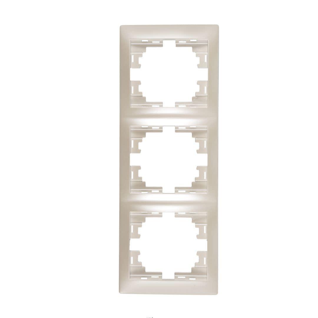 Розетки і вимикачі - Рамка тройная вертикальная Lezard серия Mira 000002070 - Фото 1