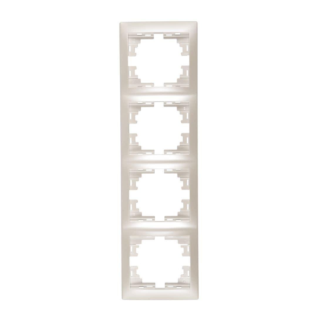 Розетки і вимикачі - Рамка четверная вертикальная Lezard серия Mira 000002072 - Фото 1