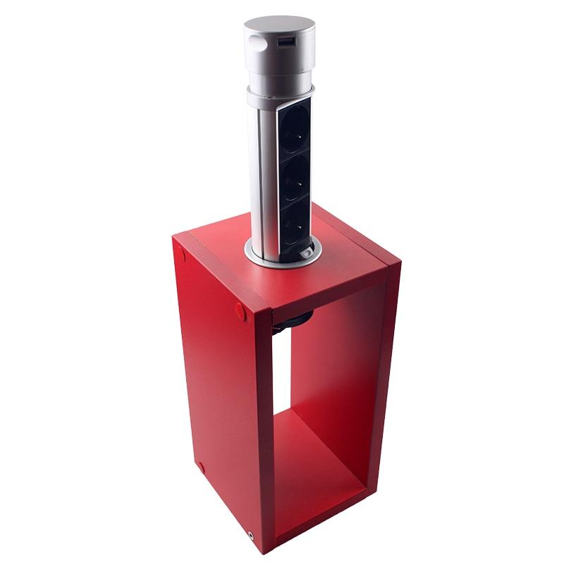 Розетки і вимикачі - Мебельная выдвижная розетка 3 поста + 2 USB 000002255 - Фото 2