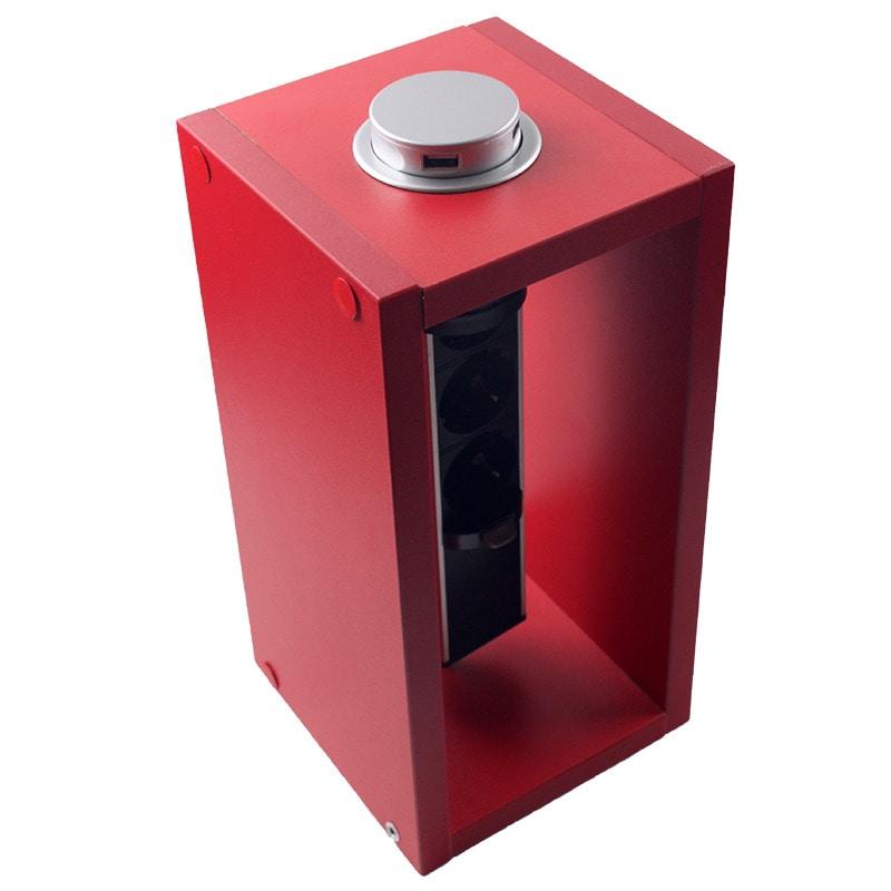 Розетки і вимикачі - Мебельная выдвижная розетка 3 поста + 2 USB 000002255 - Фото 3