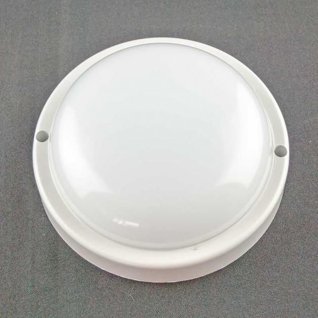 Пылевлагозащищенные светильники и корпуса IP65 - Светильник ONE LED ЖКХ 8W 6500K 640lm IP65 круг 140мм 000002304 - Фото 1
