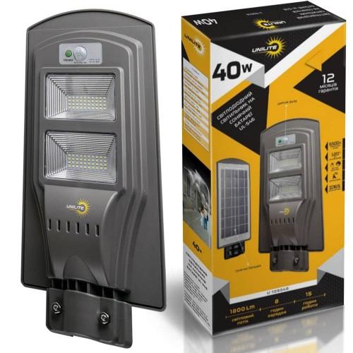 на столбы - Уличные фонари на солнечных батареях UNILITE 40W 000000581 - Фото 1