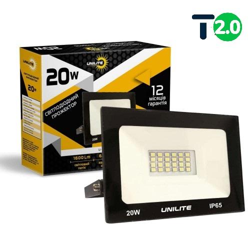 Светодиодное освещение - Светодиодный прожектор UNILITE 20W 1600lm 000000557 - Фото 1