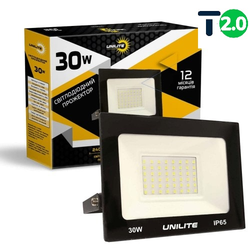 Светодиодное освещение - Светодиодный прожектор UNILITE 30W 2400lm 000000558 - Фото 1