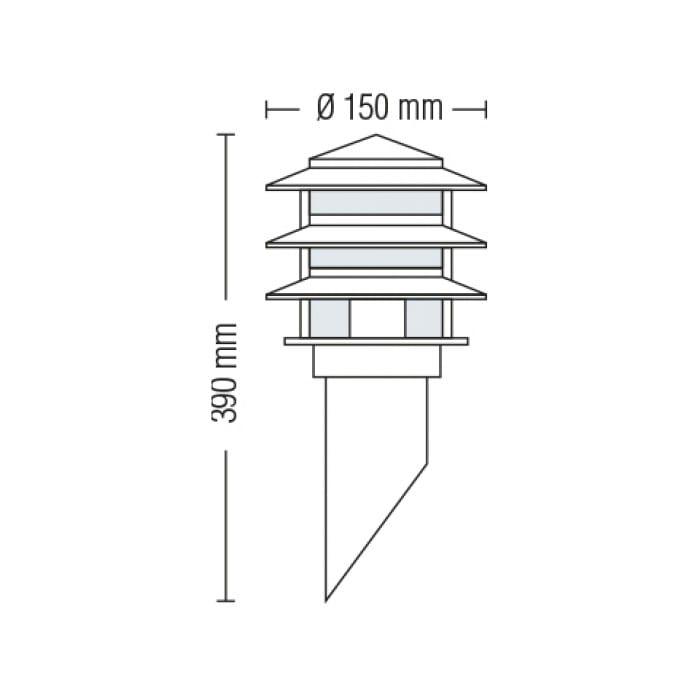 Уличные LED светильники - Светильник садово-парковый настенный Кайян 390 мм 000002487 - Фото 2