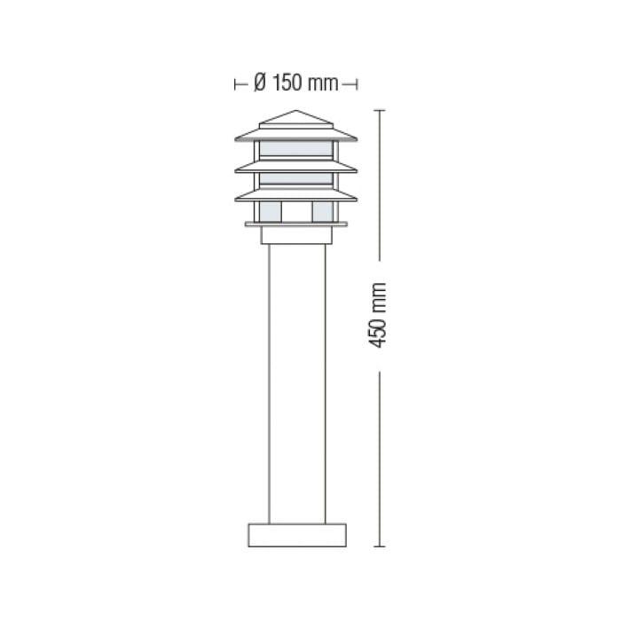 Уличные LED светильники - Светильник садово-парковый Кайян 450 мм 000002489 - Фото 2
