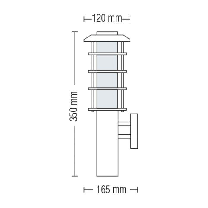 Подсветка для стен и фасадов - Светильник садово-парковый настенный Ладин 350 мм 000002484 - Фото 2