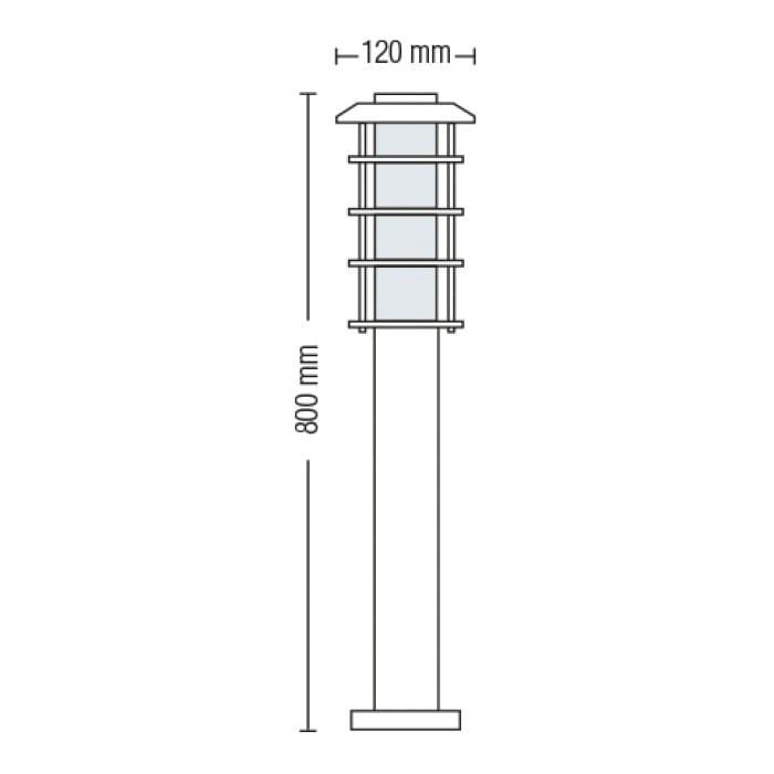 Уличные LED светильники - Светильник садово-парковый Ладин 800 мм 000002486 - Фото 2