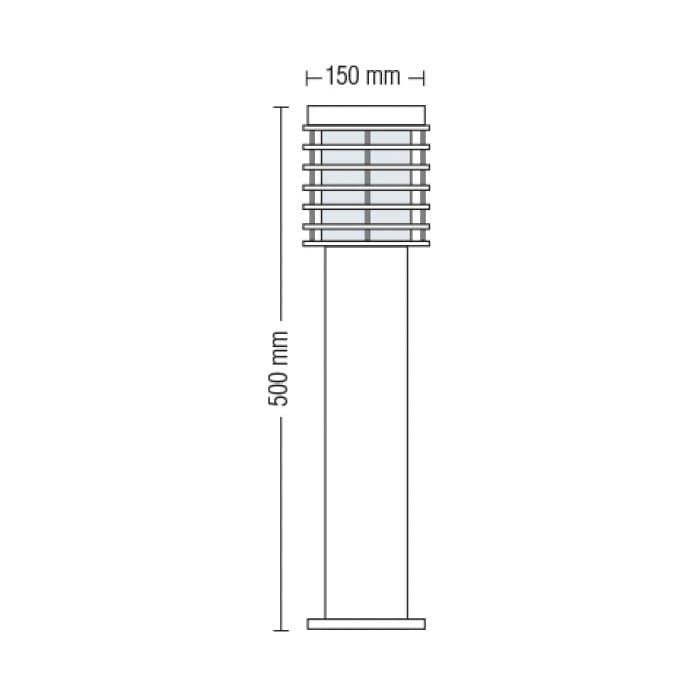 Уличные LED светильники - Светильник садово-парковый Пальма 500 мм 000002481 - Фото 2
