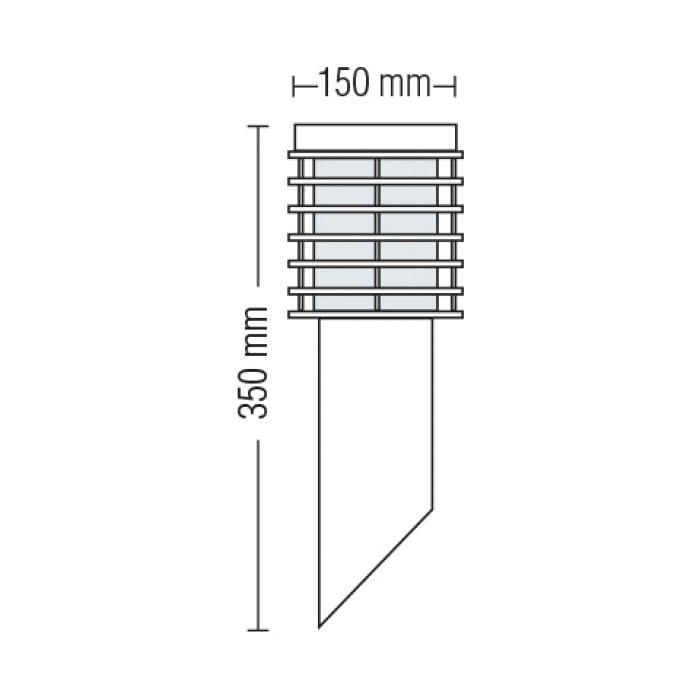 Подсветка для стен и фасадов - Светильник садово-парковый настенный Пальма 350mm 000002479 - Фото 2