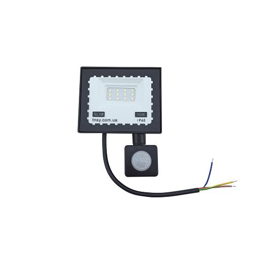 Прожекторы светодиодные LED - LED прожектор TNSY с датчиком движения 10W ULTRA 900Lm 6500K IP65 000002595 - Фото 1