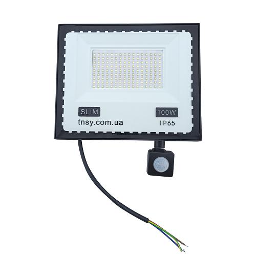 Прожекторы светодиодные LED - LED прожектор TNSY с датчиком движения 100W ULTRA 9000Lm 6500K IP65 000002599 - Фото 1