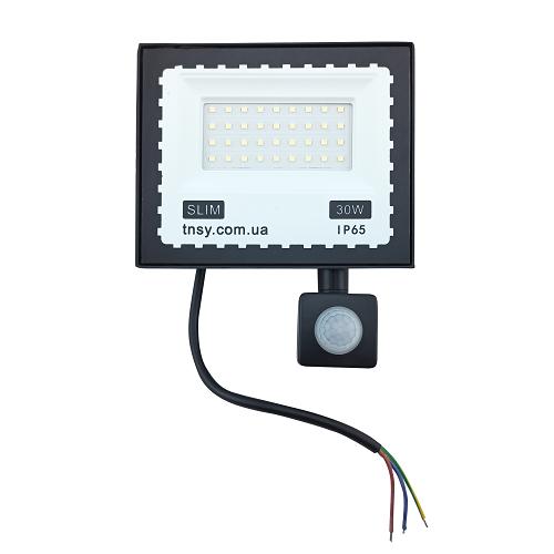 Прожекторы светодиодные LED - LED прожектор TNSY с датчиком движения 30W ULTRA 1800Lm 6500K IP65 000002597 - Фото 1