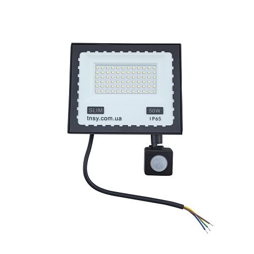 Прожекторы светодиодные LED - LED прожектор TNSY с датчиком движения 50W ULTRA 4500Lm 6500K IP65 000002598 - Фото 1