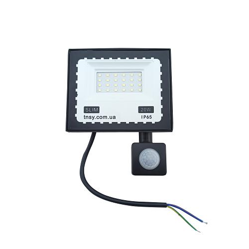 Прожекторы светодиодные LED - LED прожектор TNSY с датчиком движения 20W ULTRA 1800Lm 6500K IP65 000002596 - Фото 1