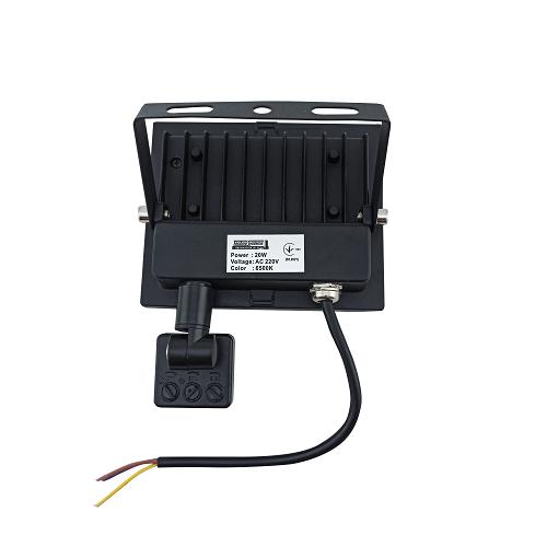 Прожекторы светодиодные LED - LED прожектор TNSY с датчиком движения 20W ULTRA 1800Lm 6500K IP65 000002596 - Фото 2