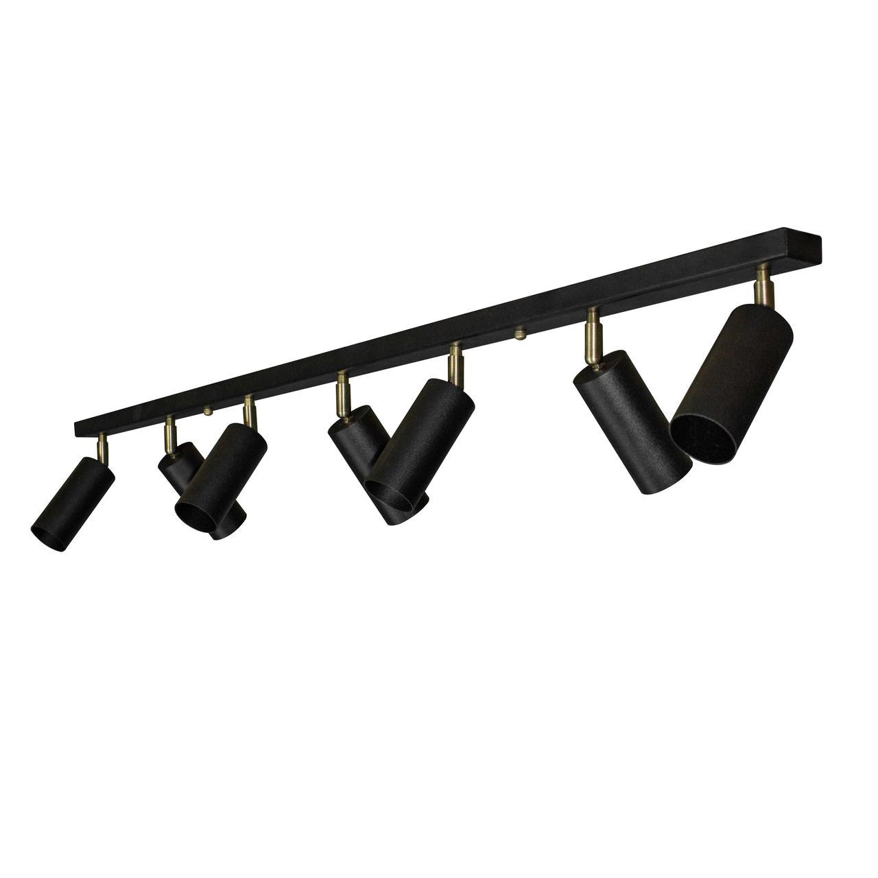 Светильники ЛОФТ - Люстра лофт с поворотным механизмом черная 000002674 - Фото 2