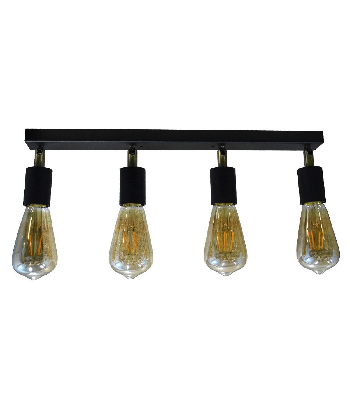 Светильники ЛОФТ - Люстра лофт потолочная с поворотным плафоном 000002780 - Фото 2